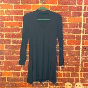 Express Forest Green keyhole cotton dress